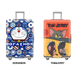 TẤM BỌC VALY DORAEMON-TOM&JERRY DỄ THƯƠNG ĐÀN HỒI CHỐNG BỤI, TRẦY XƯỚC S M L XL thumbnail