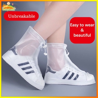 Children's rain shoes waterproof shoe cover children's rain boots waterproof and antiskid rain shoe cover children's middle tube rain shoe cover waterproof shoes middle tube shoe cover in rainy days