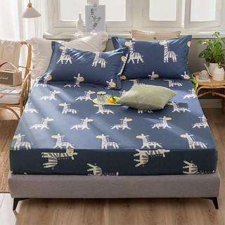 Ga drap chun trải giường chống thấm cotton 2 lớp kích thước 1m6 *2m, 1m8*2m loại tốt siêu mềm, siêu đẹp 1 món