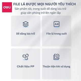 Hình ảnh File lá học sinh A4 Deli - 30/40 lá - Xanh dương/Hồng/Trắng - 1 chiếc - 72493 / 72494-1