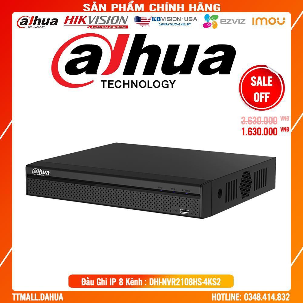 . Đầu Ghi Hình Camera Dahua DHI-NVR2108HS-4KS2 8 Kênh IP - Tích Hợp Tên Miền Miễn Phí Trọn Đời .