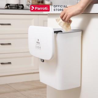 Thùng rác treo tủ bếp nắp đậy thông minh, dùng túi rác size tiểu – Parroti Bin BN01