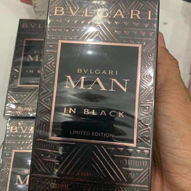 Nước hoa nam bvlgari man in black limited edition edp 100ml full seal :))