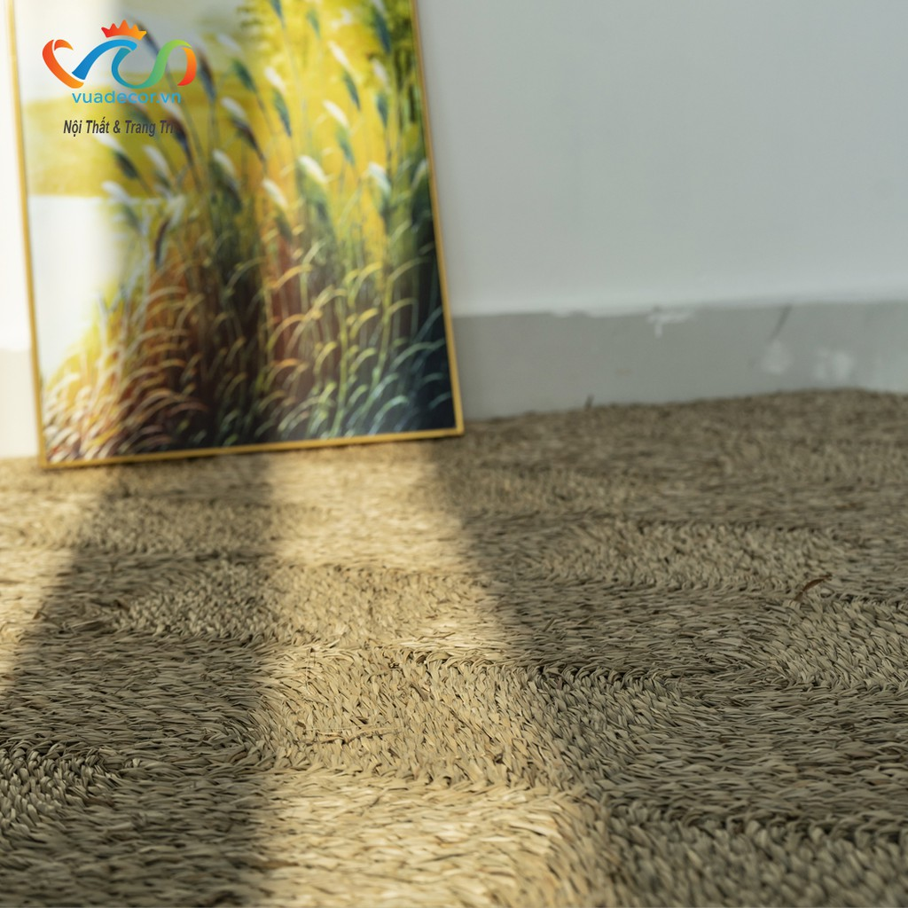 Thảm cói chữ nhật Vuadecor nhiều kích thước
