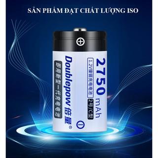 Pin đại sạc lại số 1 size c 2750mah ni-cd - doublepow - loại cao cấp, dung lượng thực - hình 4