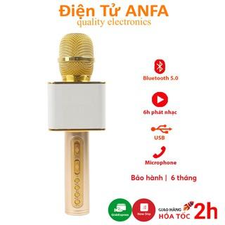 Micro không dây karaoke bluetooth JVJ SD-08, mic kèm loa nhỏ gọn, âm thanh siêu chuẩn