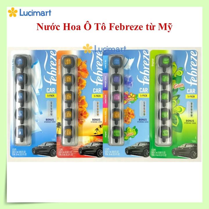 Nước hoa ô tô Febreze Air Freshener Car Vent Clips kẹp ống gió xe hơi [Hàng Mỹ]