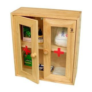 Tủ đựng y tế 2 cánh gỗ đức thành tủ y tế cửa mica gỗ đức thành mã 40241 thumbnail