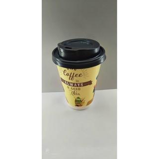 50 Ly Giấy In Hình Coffee Always 12oz 300ml Có Nắp Ly giấy cafe Ly giấy đựng cà phê Cốc giấy Cốc giấy cafe thumbnail
