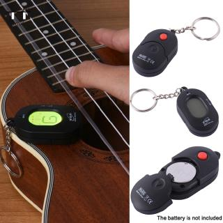 Mini Guitar Tuner Key Ring Style Chromatic Tuner Automatic for General Musical Instrument