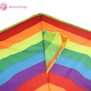✿WB✿ Colorful Rainbow Kite Long Tail Nylon Outdoor Kites Flying Toy for Children