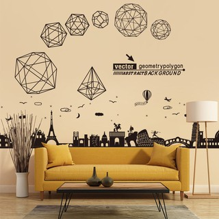 Nordic ins self-adhesive wall paper wall stickers simple atmosphere stickers liv