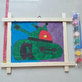 Tranh gỗ tô màu, luyện cho bé các kỹ năng cơ bản như sự sáng tạo, kỹ năng quan sát, sự tập trung, kiên trì