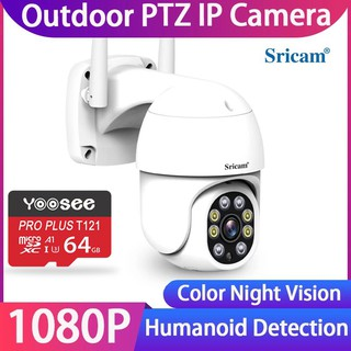 Camera WiFi Ngoài Trời Srihome SP028 1080P Xoay 360 - Loa To Rõ thumbnail