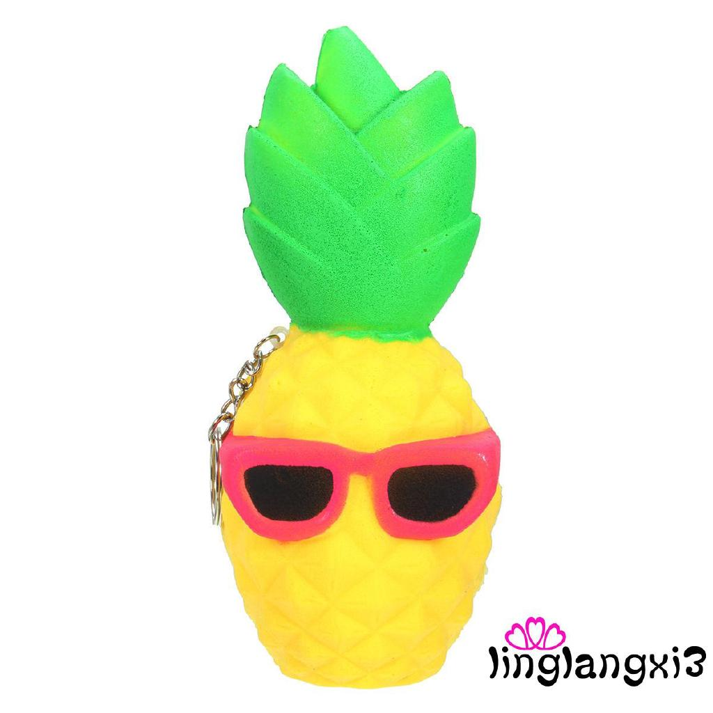 .IN-12CM Kids Children Babys Funny Playful Squishy Pineapple Scented Squeeze