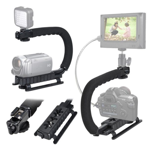 Camera Stablizer U-type Handheld Shooting Stabilizer DSLR Stabilizer Hot Shoe on Top