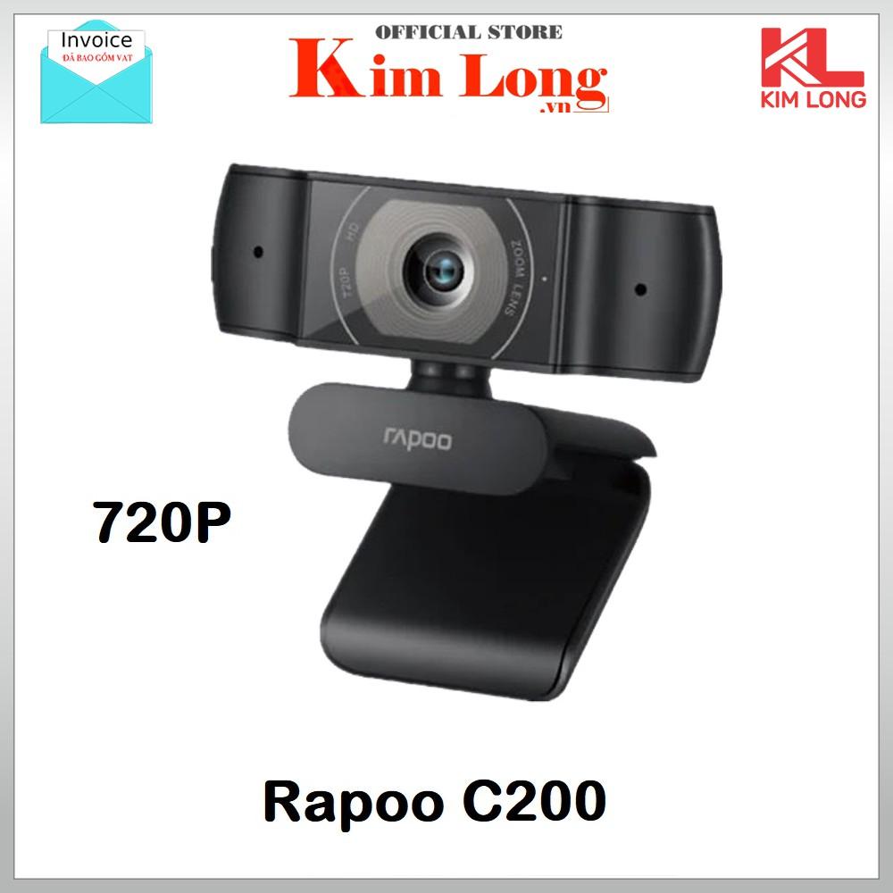 Webcam Rapoo C200 HD 720P - Hàng Chính Hãng