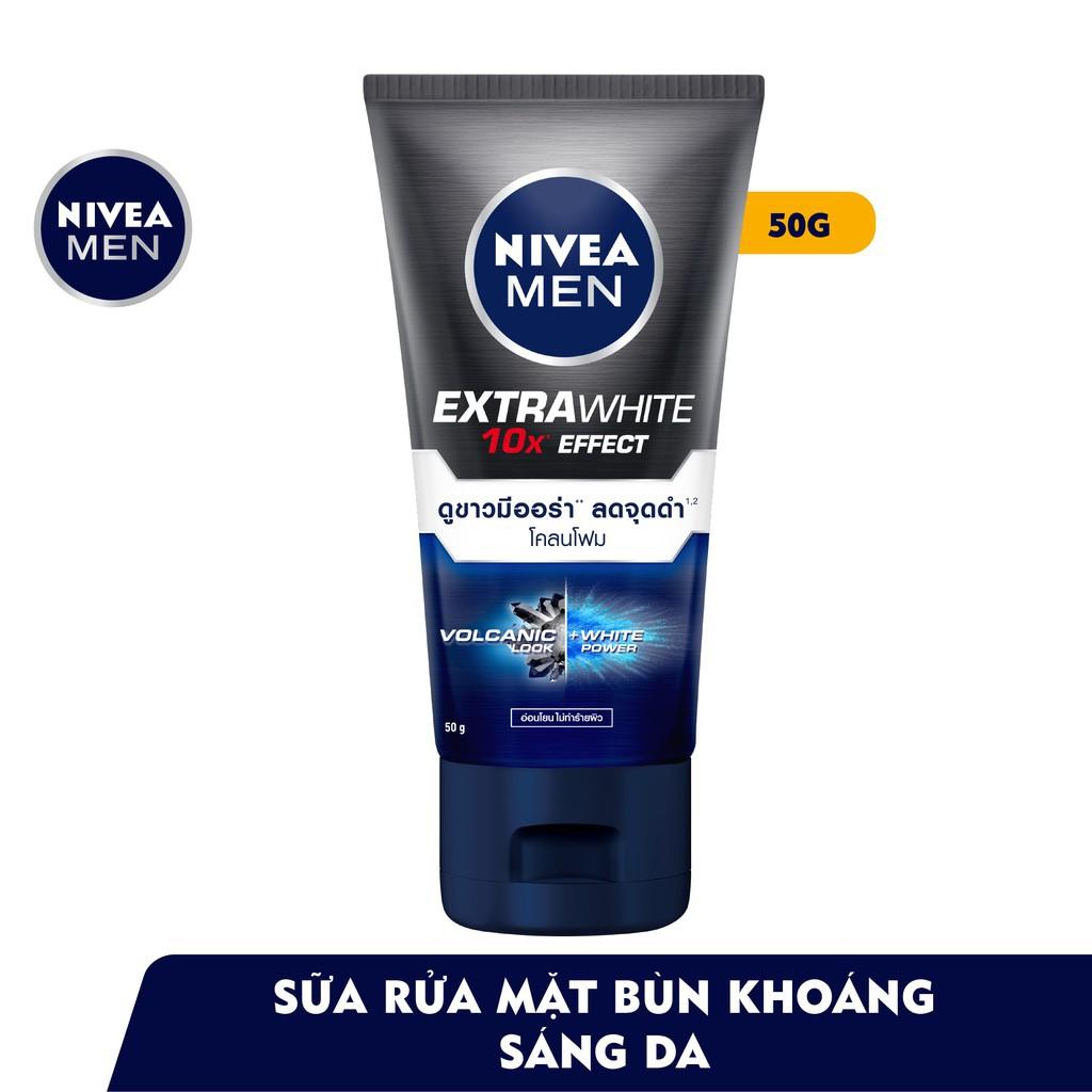 NIVEA -  Sữa rửa mặt bùn khoáng Nivea Men giúp sáng da và kiểm soát nhờn 50g - 81779 Giá Sỉ