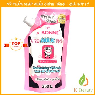 Muối tắm sữa bò tẩy tế bào chết A Bonne Spa Milk Salt Thái Lan 350gr