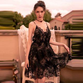 váy ngủ ren 2 lớp dài dặn mềm mịn