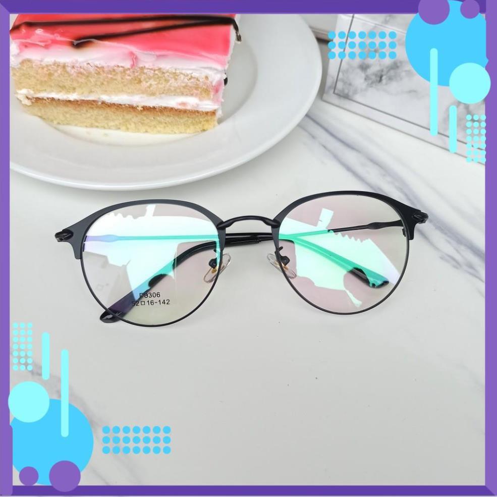 [ SALE ] Gọng kính tròn kim loại 8306 nhận cắt cận viễn loạn