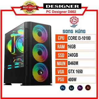 Máy Bộ PC Designer D002 (i3-10100 B460 16GB RAM GTX 1650 240GB SSD 400WTản nhiệt 400Ti Color Master) thumbnail
