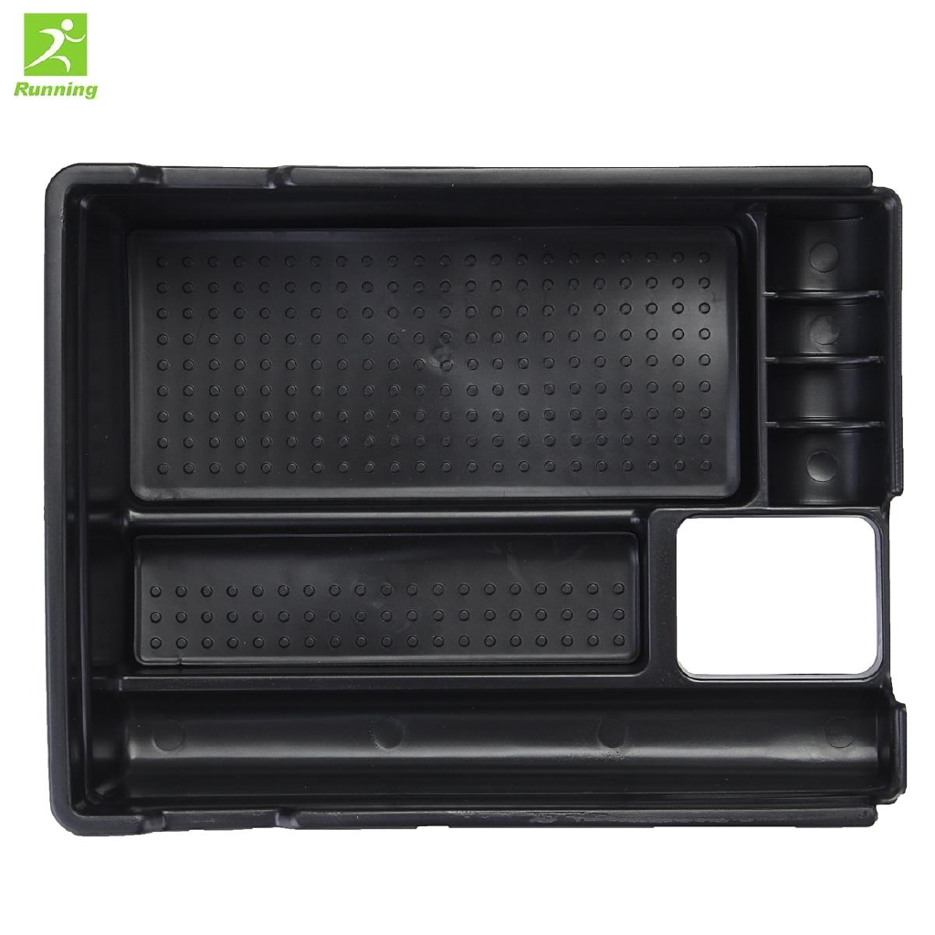 RUN Nissan Rogue X-Trail Central Armrest Box Armrest Container Storage Tray 1pc Durable