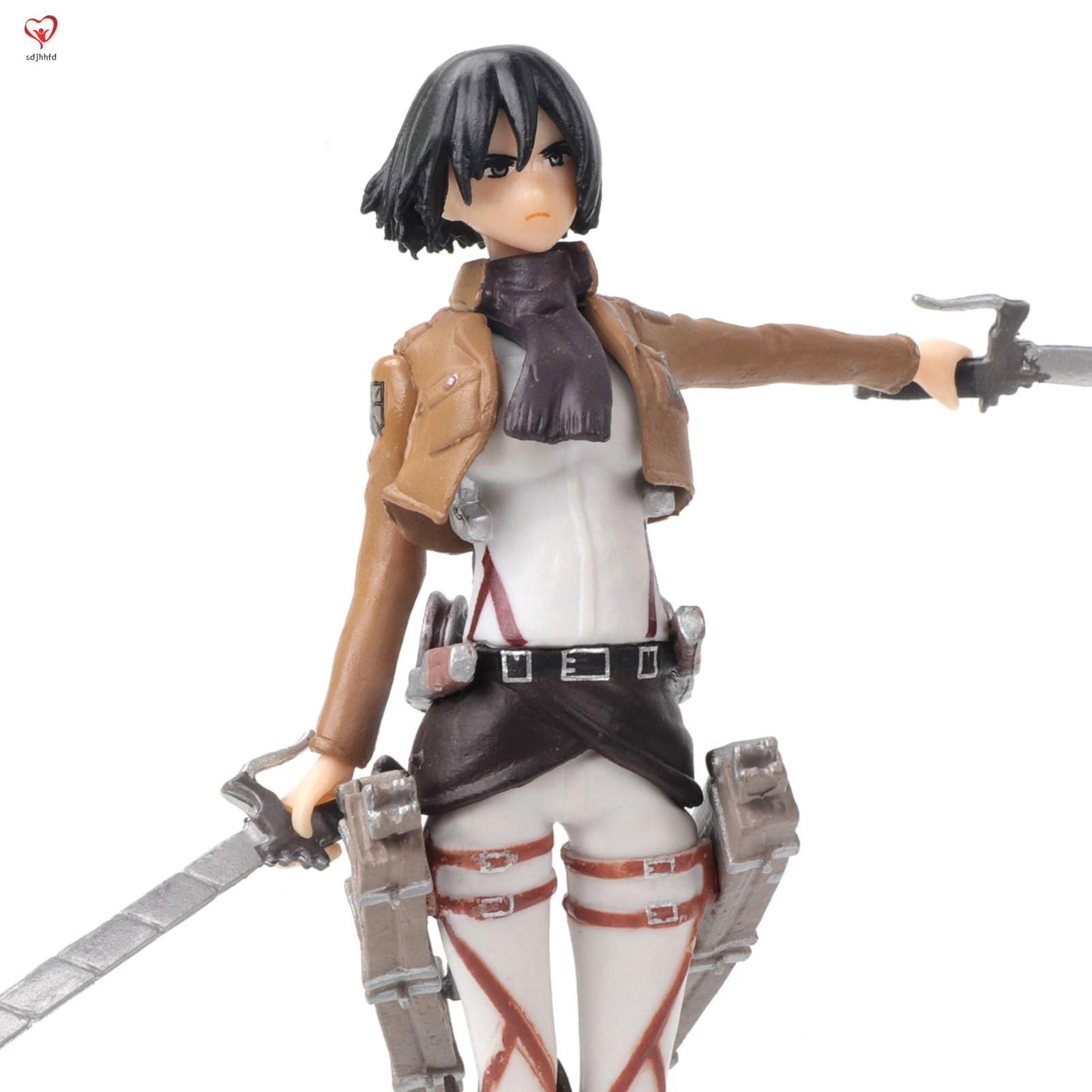 Attack on Titan Mikasa Ackerman PVC Figure Anime Action Figure Model Toy Cake Decoration