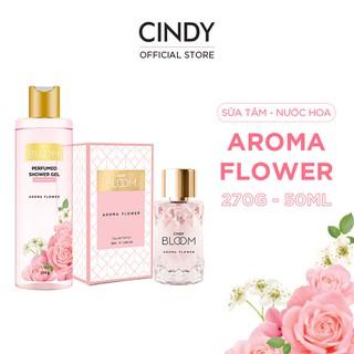 Combo Sữa Tắm Nước Hoa 270g & Nước Hoa 50ml Cindy Bloom Aroma Flower thumbnail