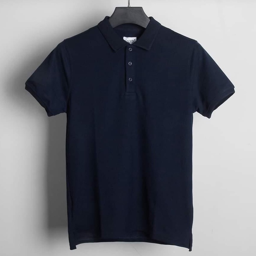 Áo polo nam trơn đẹp áo phông thun nam hàng hiệu có cổ đen trắng FAVITI AT01