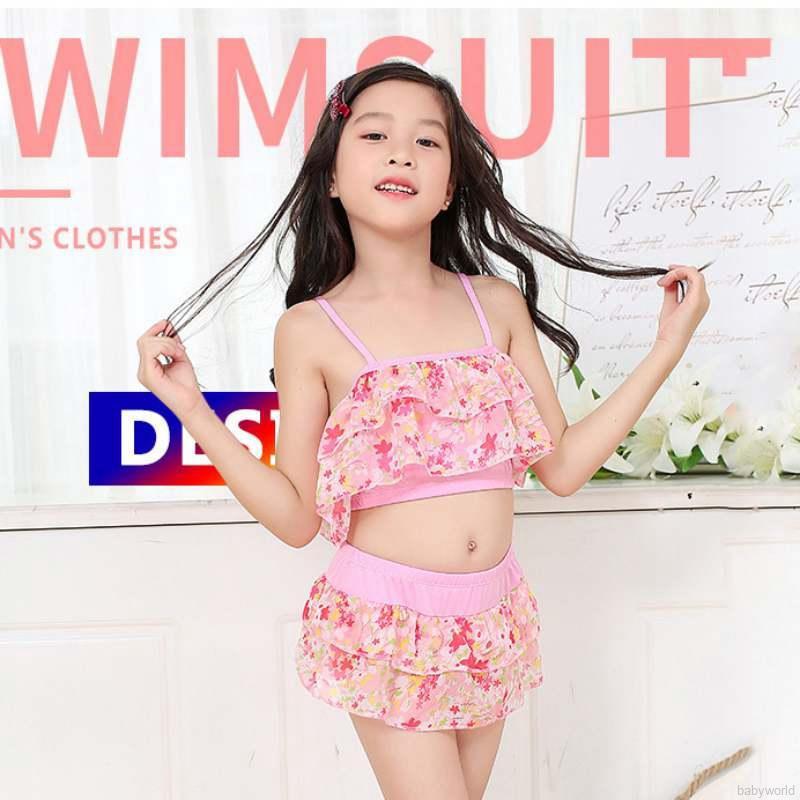 Bộ đồ bơi in hoa dễ thương cho bé gái