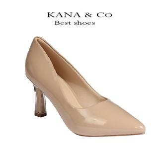 Giày cao gót da bóng gót vuông mica trong 7 cm mũi nhọn thời trang vasmono hàng chuẩn xuất khẩu- V017087 thumbnail