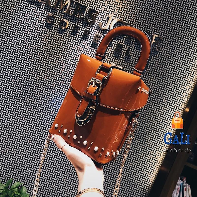 Túi nữ hộp da bóng cao cấp, sang trọng, hàng nhập quảng châu GL55