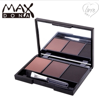 Tri-color eyebrow powder 3 colors available, waterproof, sweat-proof, three-in-one, no smudging of nose shadow, long-lasting earth color, brown, easy to color makeup ins net red Tri-color eyebrow powder Makeup Ins