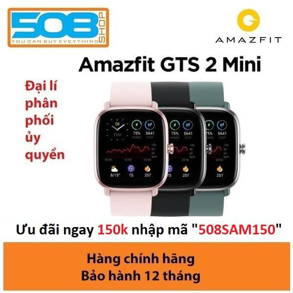 Đồng hồ Amazfit GTS 2 Mini, Đồng hồ thông minh Amazfit GTS 2 mini- Bản quốc tế - Bảo hành 12 tháng Digiworld