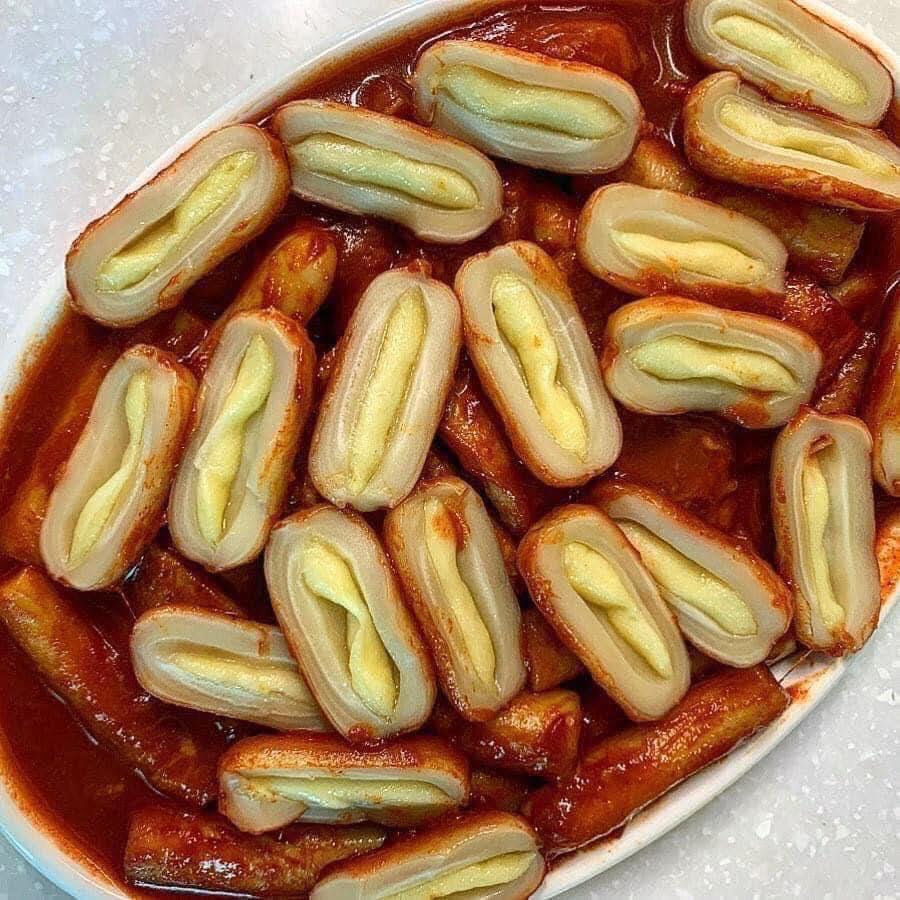 Bánh gạo tokbokki nhân phô mai Hàn Quốc 500G