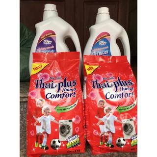 [Mã HC1105 - 10% đơn 150K] Combo 2 túi bột giặt Thái Plus hương Comfort siêu thơm 400gr