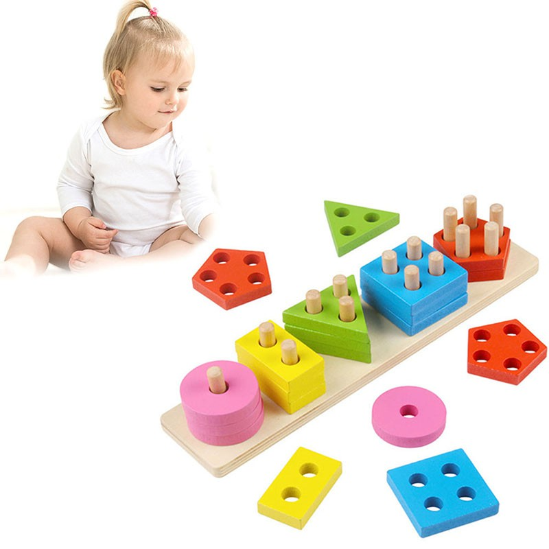Wooden Educational Preschool Toddler Toys for Boys Girls Montessori Toy