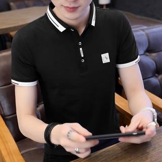 Áo thun nam cổ bẻ kiểu dáng body ngắn tay thời trang Hàn Quốc cao cấp [Free ship]