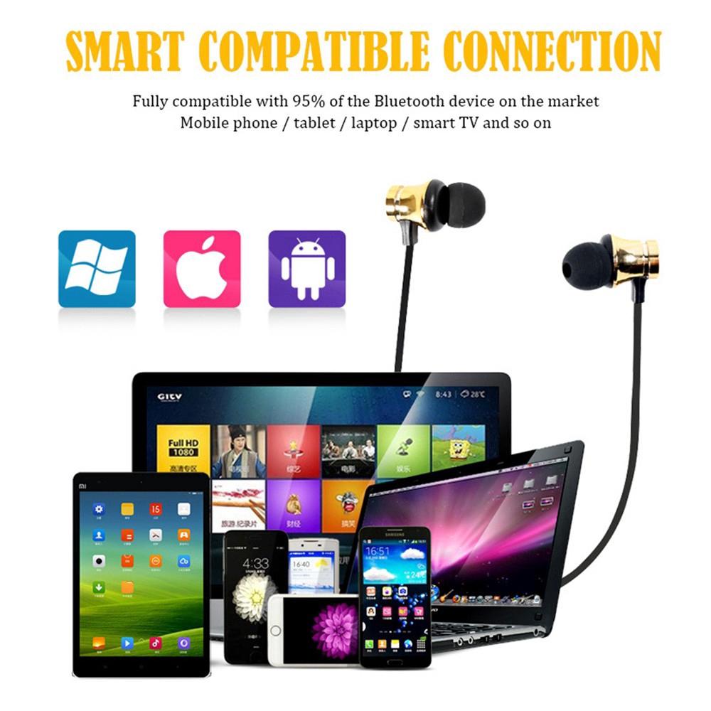 Tai Nghe Bluetooth Thể Thao Có Nam Châm Cho Iphone X Android