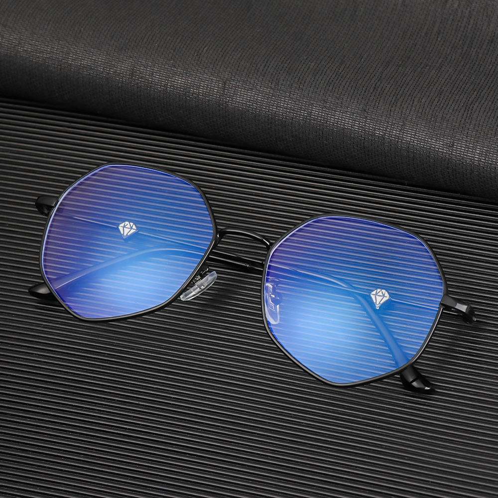 WATTLE Fashion Glasses Radiation Protection Eyeglasses Computer Goggles Vision Care Anti-UV Blue Rays Ultralight Unisex Flat Mirror Eyewear