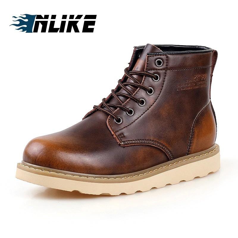 Giày Boot da kiểu dáng thời trang cá tính cho nam