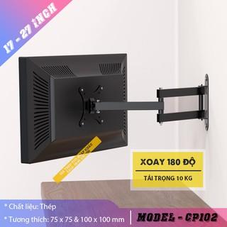 Giá treo màn hình xoay đa năng CP102 14 - 32 inch - Giá Treo Tivi Gắn Tường Xoay Trái / Phải 180 Độ