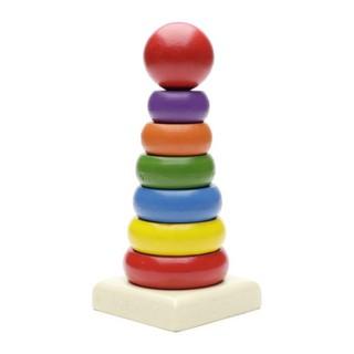 Đồ chơi gỗ tháp chú hề to