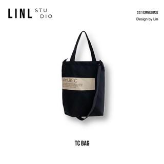 Túi vải tote đeo chéo trơn 9 màu - LINLINCANVAS