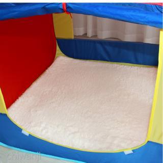 100x100cm Square Play Mat Pad Kids Indoor Playhouse Tent Carpet Rug White