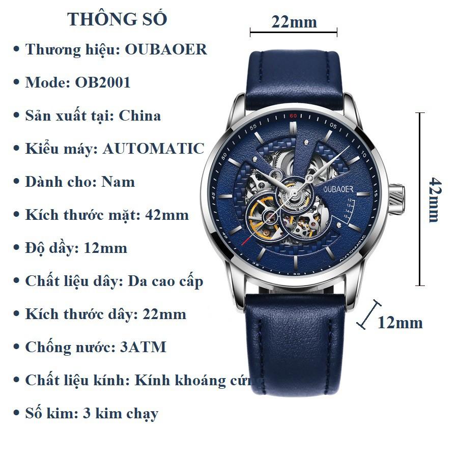 Đồng hồ cơ lộ máy nam OUBAOER-2001 HÀNG CAO CẤP