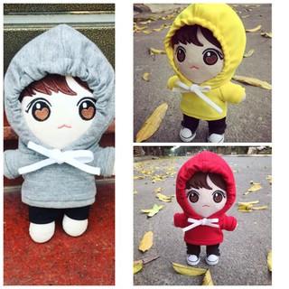 Áo hoodie cho doll 20 cm ( xám, vàng , đỏ, trắng, đen )