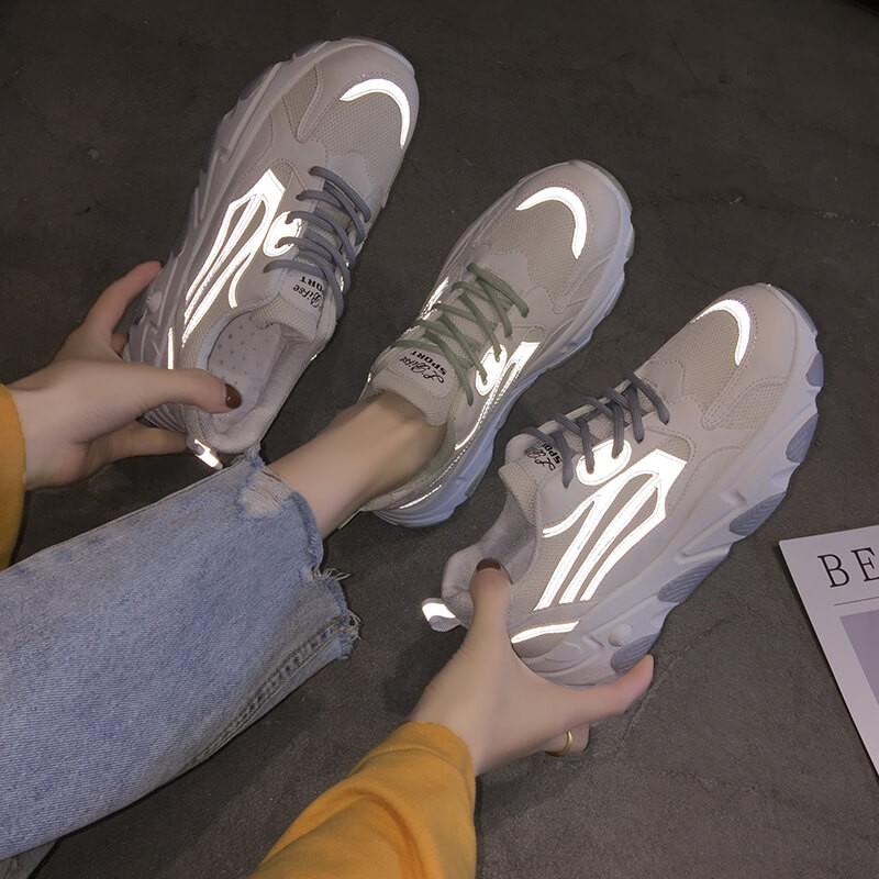[Hot bản mới] Giày thể thao nữ cao cấp khuynh hướng Sneakers 😍Giay Phản quang😍2 màu có sẵn(03)