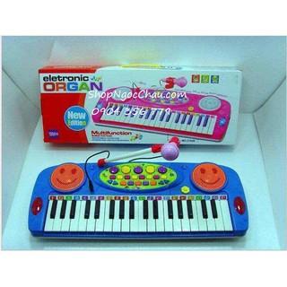Đàn Organ kèm Micro 2505A- màu xanh